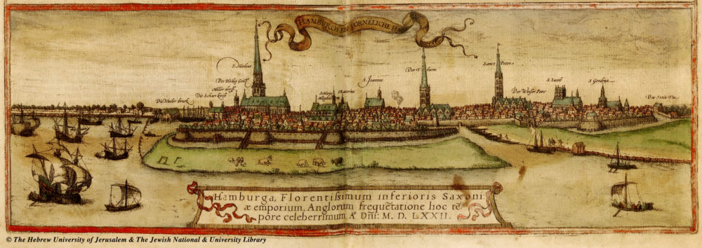 Hamburg 1527: links Nikolaikirche