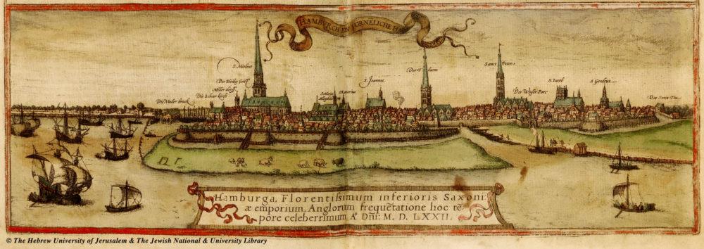 Hamburg 1527: links Nikolaikirche